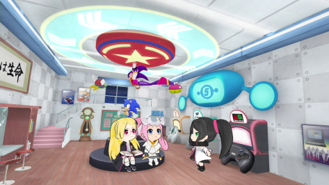 Hi☆sCoool! SeHa Girls Sega Hard Girls Saturn Dreamcast Mega Drive Sehagaga Academy Lobby Room