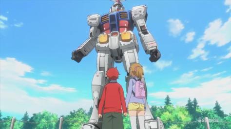 Gundam Build Fighters Try Fumina Hoshino Sekai Kamiki Life Sized RX-78 Gundam Visit