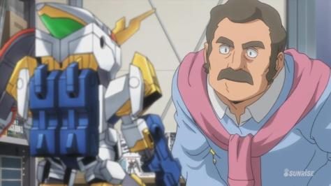 Gundam Build Fighters Try Mr Ral Inspecting Looking At SD-237 Winning Gundam Pink Cardigan