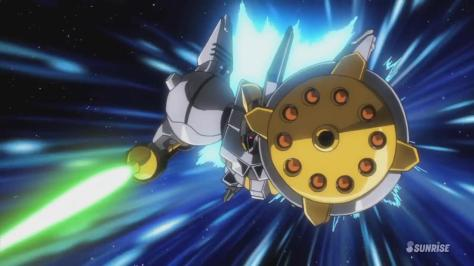 Gundam Build Fighters Try MX-104GG R-Gyagya Gyanko Mobile Suit Flying Beam Sword Shield Missiles