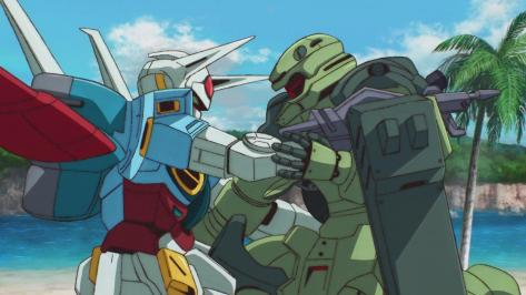 Gundam Reconguista in G Gundam G no Reconguista G-Self Jahannam Landing Holding On Beach