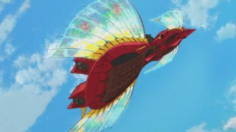 Gundam Reconguista in G Gundam G no Reconguista Megafauna Flying Blue Sky Rainbow Butterfly Wings