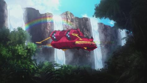 Gundam Reconguista in G Gundam G no Reconguista Megafauna Nick Space Rainbow Waterfall Rainforest