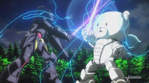 Gundam Build Fighters Try KUMA-F Beargguy F (Family) Turn A Gundam Black Beam Saber Duel Sparks Electricity Forrest