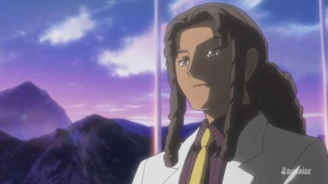 Gundam Build Fighters Try Nils Yajima Nils Nielsen Grown Up White Suit Mountains Sunset