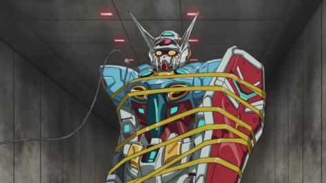 Gundam Reconguista in G Gundam G no Reconguista  G-Self Restrained Tied Up Binding Sankt Porto Dock