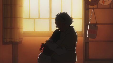 Rainbow-Colored Fireflies The Eternal Summer Vacation Nijiiro Hotaru Eien no Natsuyasumi Saeko Grandmother Hug Yukata Crying Sunset