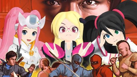 Sega Hard Girls Hi-sCoool! SeHa Girl Dreamcast Mega Drive Sega Saturn Photo Booth Sticker Shinobi Art