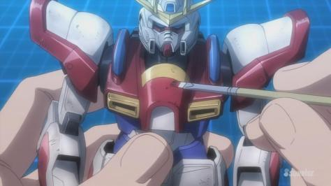 Gundam Build Fighters Try Build Burning Gundam Damaged Painting Repairs