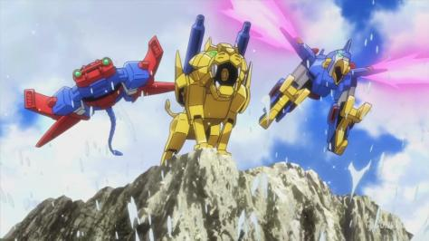 Gundam Build Fighters Try Gundam Tryon 3 TRY-M1 Riku Tryon Liger TRY-M2 Umi Tryon Manta Ray TRY-M3 Sora Tryon Bird