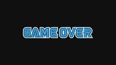 Sega Hard Girls Hi-sCoool! SeHa Girl Game Over Sega Font Black End Screen