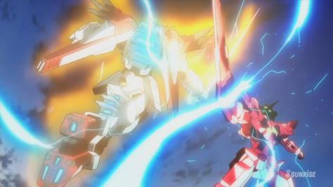 Gundam Build Fighters F91 Gundam F91 Imagine PPGN-001 Gundam Amazing Exia Clash Fight Effects Trans-Am