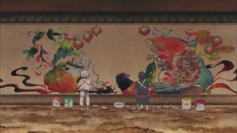 Hozuki no Reitetsu Hoozuki no Reitetsu Cool Headed Hozuki Hozuki's Cool Headedness Painting Mural Nasubi Fish Hell Walls
