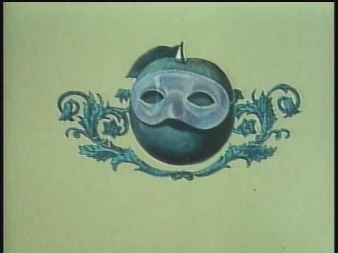 Koji Yamamura Japanese-English Pictionary Fruit Wearing Masquerade Ball Mask