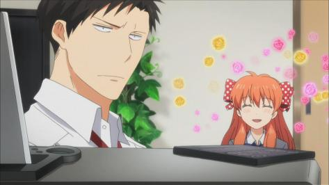 Monthly Girls' Nozaki-kun Gekkan Shoujo Nozaki-kun Umetarō Nozaki Chiyo Sakura Flower Face Listening To Music