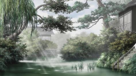 Mushishi Zoku-Shō Mushishi Next Passage Mushishi S2 Canal Town Trees Sunlight Wallpaper