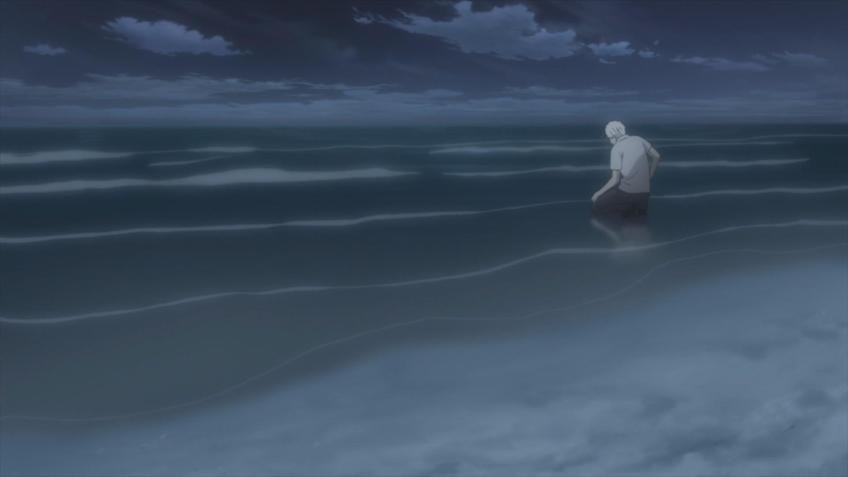 Image result for kneeling on beach at night