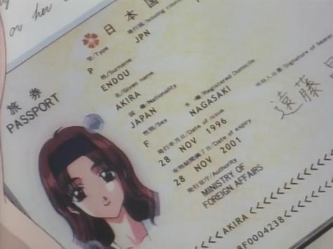 Sentimental Journey Sentimental Graffiti Anime Akira Endou Japanese Passport