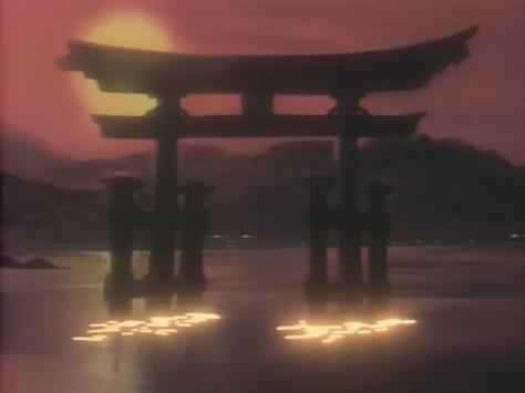Sentimental Journey Sentimental Graffiti Anime Yuu Nanase Story Shinto Shrine Sunset Lake Mountains