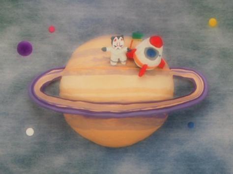 Taiko Drum Master Taiko no Tatsujin The Mask Kid Fox Mask Saturn Spaceship Landing
