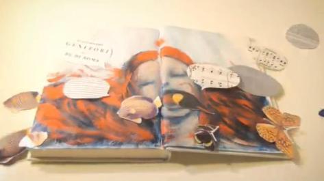 Nimrod People in the Box Ryu Kato Woman Girl Hair Singing Fish Butterflies Cutouts