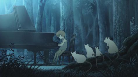 Piano Forest Piano no Mori The Perfect World of Kai Kai Ichinose Piano Clearing Night Playing Mice Watching