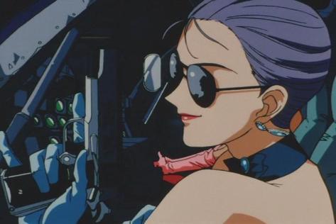 Suna no Bara Yuki no Mokushiroku Desert Rose Dellaila Kankunen Sunglasses Evening Gown Pistol Smirk Helicopter