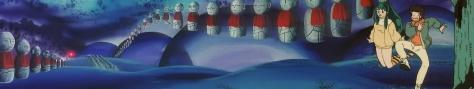 Urusei Yatsura Those Obnoxious Aliens Lum Oni Flying Hovering Ataru Moroboshi Four Dimension Fortune of Fear Shrine World Stitch