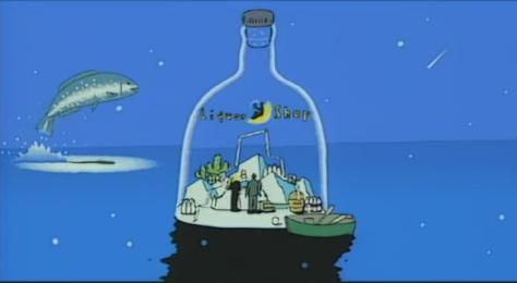 A Piece of Phantasmagoria Tamura Shigeru Liquor Shop Bottle In The Ocean Flying Fish Alcohol Ship