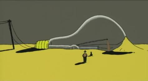 A Piece of Phantasmagoria Tamura Shigeru Watt Desert Giant Lightbulb Sand Powerlines