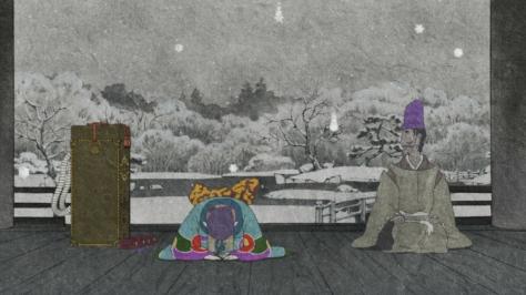 Mononoke Medicine Seller Kusuriuri Bowing Roubou Oosawa Princess Ruri Mansion in Snow
