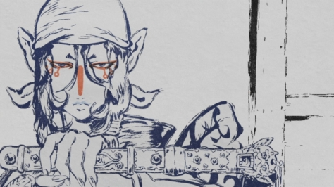 Mononoke Medicine Seller Kusuriuri Holy Sacred Excorism Sword Ink Style