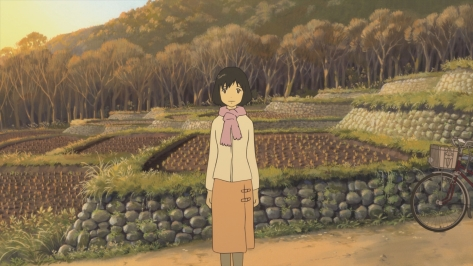 Wolf Children Ookami Kodomo no Ame to Yuki Hana Countryside Farm Sunset Vegetables