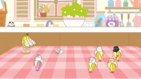 Bananya Tabby Baby Black Daddy Bunch Long Haired Mackerel Bananyako Bunch Group Shot Kitchen Table
