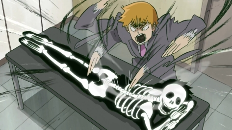 Mob Psycho 100 Mob Psycho Hyaku Mob Psycho One Hundred Arataka Reigen Greaseman Porn Curse Shoulder Massage Sorcery Crush Happy Skeleton