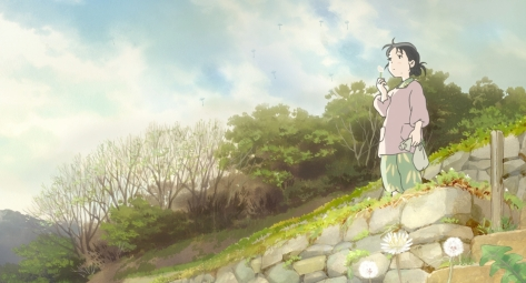 In This Corner of the World Kono Sekai no Katasumi ni Suzu Blowing Dandelions Into The Wind On A Hill