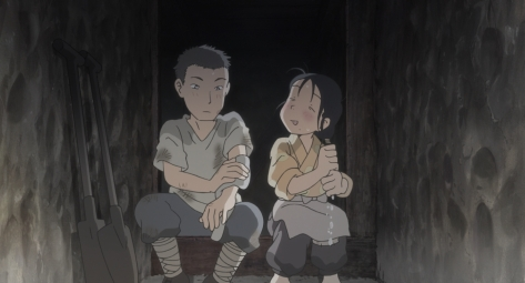 In This Corner of the World Kono Sekai no Katasumi ni Suzu Shusaku Drying Off In Family Bomb Shelter After A Sudden Rain Storm
