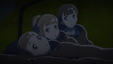 A Place Further Than The Universe Sora yori mo Tooi Basho Mari Tamaki Hinata Miyake Yuzuki Shiraishi Faces Sleeping Bags Camping Tent