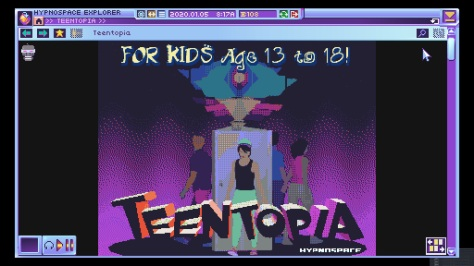 Hypnospace Outlaw Teentopia Area Splash Page Header